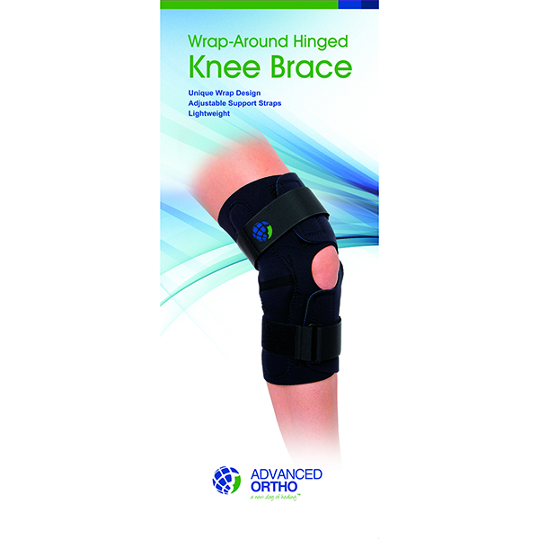 Wrap-Around Hinged Knee Brace