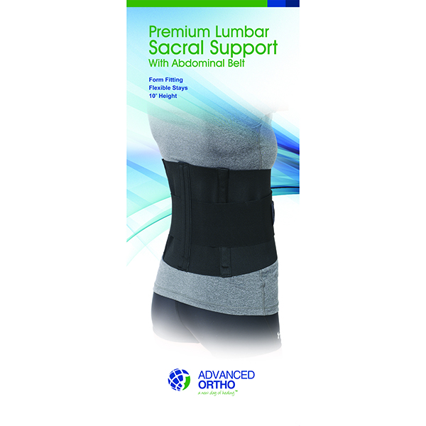 Premium Lumbar Sacral Support With Abdominal Belt