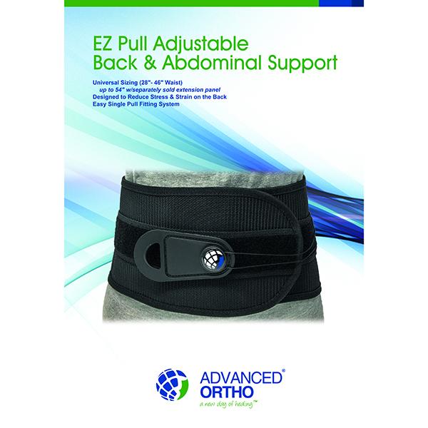EZ Pull Adjustable Back & Abdominal Support