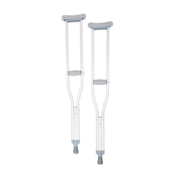 Aluminum Adjustable Push-Button Crutches